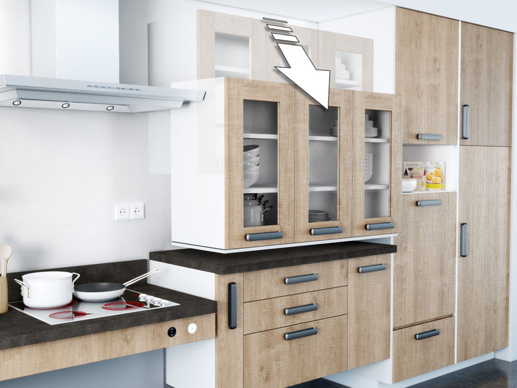 la cuisine mobile nouveau concept volutif cuisina. Black Bedroom Furniture Sets. Home Design Ideas