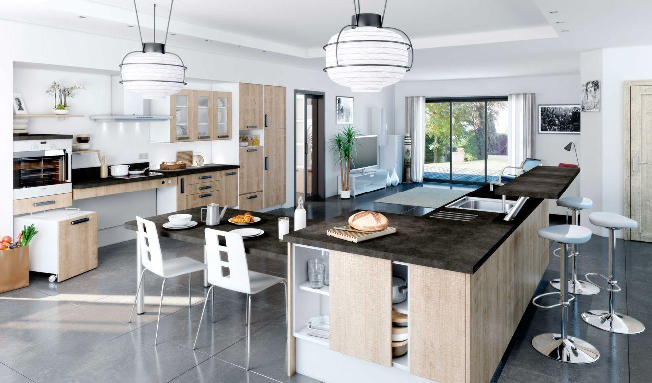 la cuisine mobile nouveau concept volutif cuisina. Black Bedroom Furniture Sets. Home Design Ideas